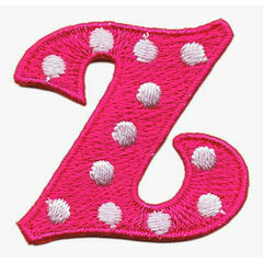 Jennie Maizels Alphabet Patch - Letter Z - Pink