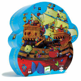 Djeco Silhouette Puzzle 54 Piece - Barbarossa's Pirate Ship