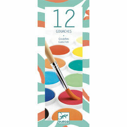 Djeco 12 Colour Paint Palette - classic colours