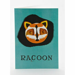 Petra Boase Japanese Paper Balloon Greeting Card - Racoon