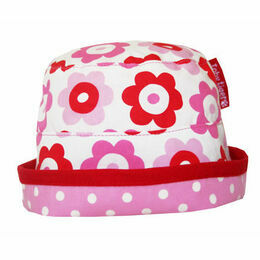Toby Tiger Reversible Sun Hat - Pop Flower