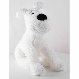 Tintin Snowy/Milou Floppy Dog Soft Toy - 20cm