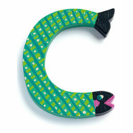 Djeco Animal Wooden Letter - C - fish