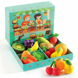 Djeco Louis and Clémentine Fruit & Vegetable Role Play Set