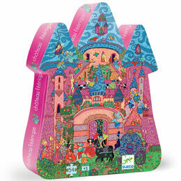 Djeco Silhouette Puzzle 54 Piece - The Fairy Castle