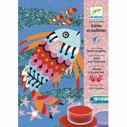 Djeco Sand & Glitter Art Workshop - Fish Rainbows