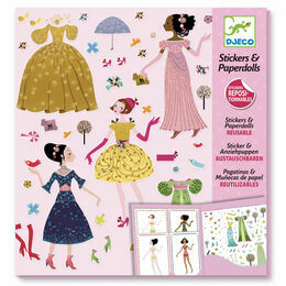 Djeco Stickers & Paper Dolls - Dresses through the Seasons