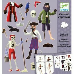 Djeco Stickers & Paper Dolls - Pirates