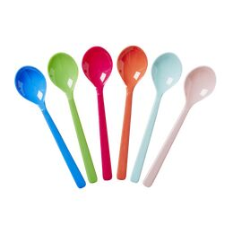 Rice Melamine Short Spoons - Set 6 - Multi