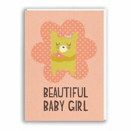 Nineteen Seventy Three Baby Girl Greeting Card by Paper & Cloth
