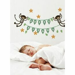 Wee Gallery Monkey Banner Wall Graphics
