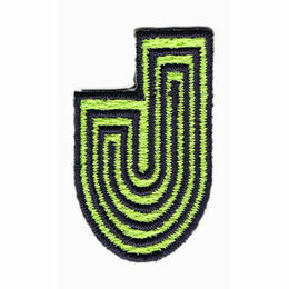 Jennie Maizels Alphabet Patch - Letter J - Green