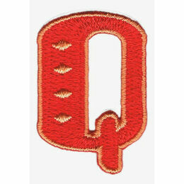 Jennie Maizels Alphabet Patch - Letter Q - Red