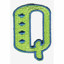 Jennie Maizels Alphabet Patch - Letter Q - Green