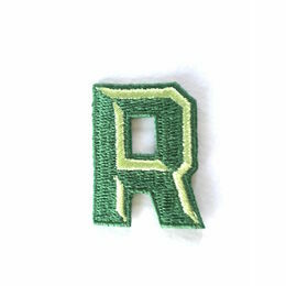 Jennie Maizels Alphabet Patch - Letter R - Green