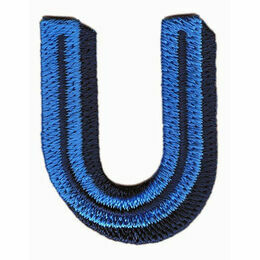Jennie Maizels Alphabet Patch - Letter U - Blue