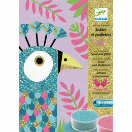 Djeco Sand & Glitter Art Workshop - Dazzling Birds