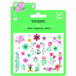 Djeco Mini Glitter Stickers - Little Flowers