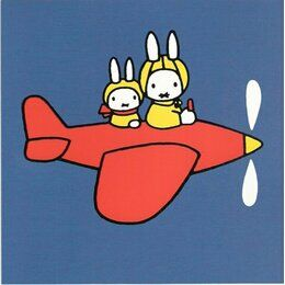 Hype Miffy Greeting Card - Aeroplane