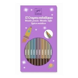 Djeco 8 Metallic Colour Pencils
