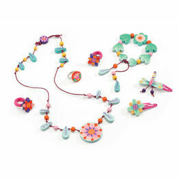 Djeco Wooden Jewellery Set - Flower Paradise