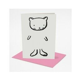 Wee Gallery Colour in Dress-up Greeting Card - Cat