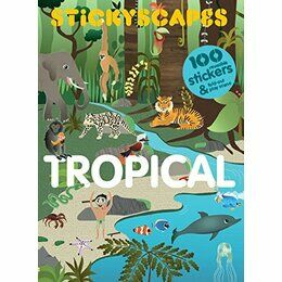 Laurence King Publishing Stickyscapes Panoramic Landscapes- 100 Tropical Stickers