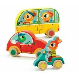 Djeco 3D Wooden Puzzle on Wheels - Jako & Co