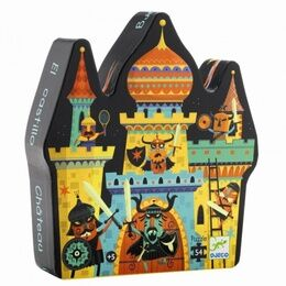 Djeco Silhouette 54 Piece Jigsaw Puzzle - Fortified Castle