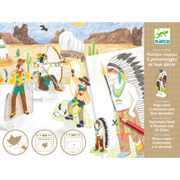 Djeco Western Magic Plastic Figures To Make
