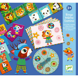 Djeco Bingo Memo Domino Games - Little Friends
