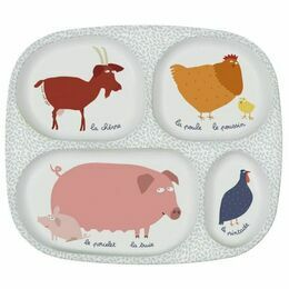 Petit Jour Farm 4-compartment serving tray