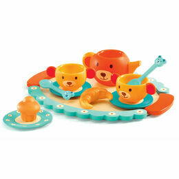 Djeco Wooden Tea Set - Teddy Bear's Tea Party