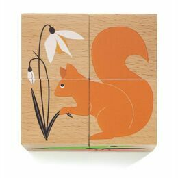 Djeco 4 Wooden Block Puzzle - Nature & Co