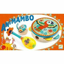 Djeco Animambo Set of 3 Musical Instruments (tambourine, maracas, castanet)