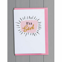Petra Boase Embroidered Word Card - It's a Girl