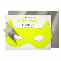 Meri Meri Superhero Mask Greeting Card
