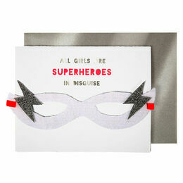 Meri Meri Superhero Girl Greeting Card