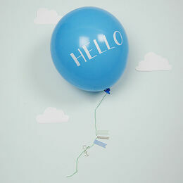 Meri Meri Hello Blue Balloon Baby Card