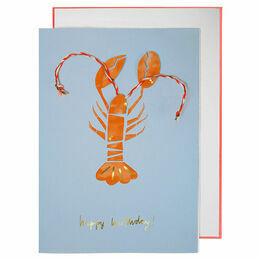 Meri Meri Happy Birthday Lobster Greeting Card