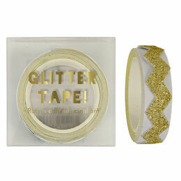 Meri Meri Gold Glitter Chevron Tape