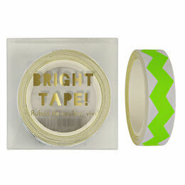 Meri Meri Green Neon Chevron Tape