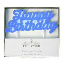 Meri Meri Blue Happy Birthday Candle