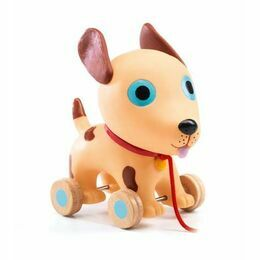 Djeco Pull Along Toy - Theo the Dog