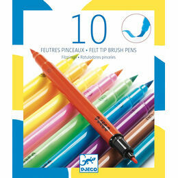 Djeco 10 Double Ended Felt Tip Pens - Pop Neon Colours