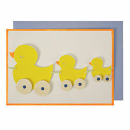 Meri Meri Duck Pull Along Greeting Card