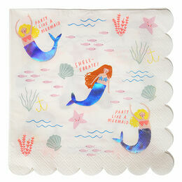 Meri Meri Let's Be Mermaids Large Party Napkin