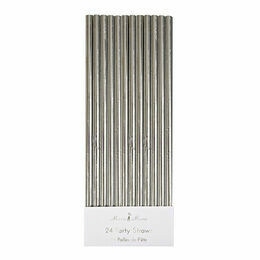 Meri Meri Silver Foil Party Straws