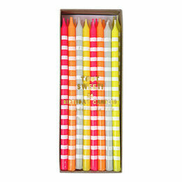 Meri Meri Pastel Stripe Party Candles