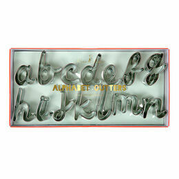 Meri Meri Alphabet Cookie Cutters